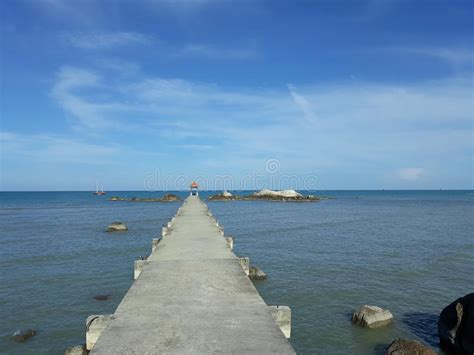 scenery  beach parai tenggiri stock image image