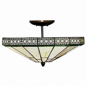 Tiffany style light semi flush ceiling