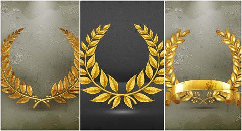t shirt design software set of golden wreaths vector free