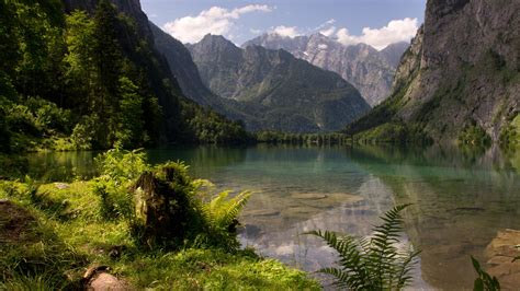 hd nature wallpaper  picture  obersee lake german