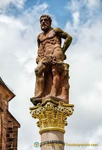 Hercules Statue In Marktplatz  A Symbol Of The Strength Of