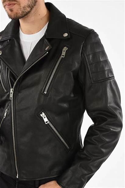 Leather Biker Jacket Primus Glamood Diesel Outlet