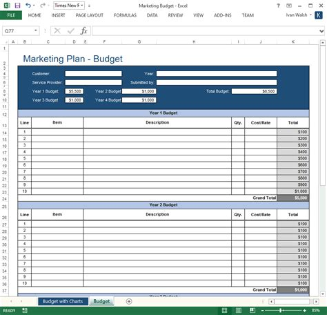 excel business templates forms checklists