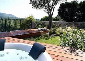 realisations paysagistes jardins et terrasses a With amenagement petit jardin avec terrasse et piscine 3 creation jardin de ville avec piscine marseille roucas