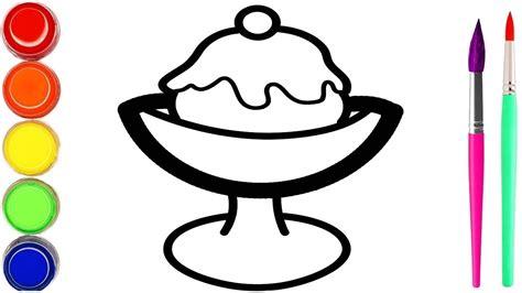 cangkir es krim milkshake mewarnai dan menggambar untuk
