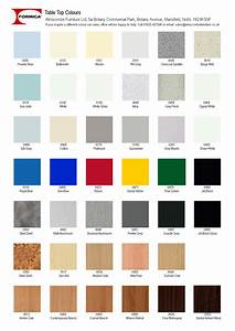 Winscombe Furniture Formica Laminate Table Top Colours