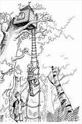 Magic Tree Coloring Printable Jack Annie Treehouse Baumhaus Magisches Printables Colouring Printablee Geschenke Piraten Abenteuer Figur Malboegen Malvorlagen Schule Pirates sketch template
