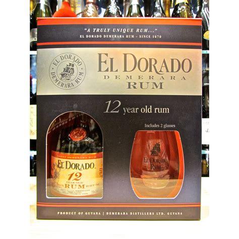 bicchieri per rum vendita el dorado 12 anni confezione con bicchieri