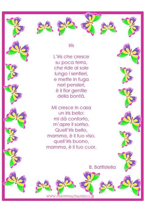 Cornici Per Poesie by Poesia Iris Da Stare Sulla Mamma Mamma E Bambini