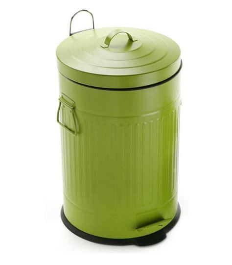 poubelle cuisine retro poubelle de tri sélectif en acier inoxydable 2