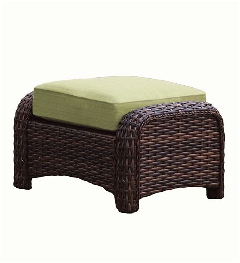 Patio Furniture With Ottoman by St Tropez Wicker Outdoor Ottoman Collection Accessories