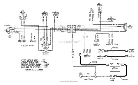 dixon ztr 5502 1996 parts diagram for wiring assembly