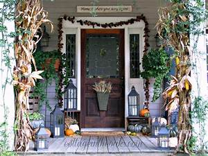 The Porch in Autumn ::: Fall Front Porch - Cottage in the Oaks