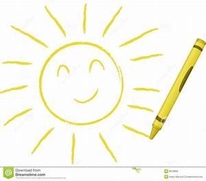 Crayon Drawn Sun - Vector Illustration Royalty Free Stock ...