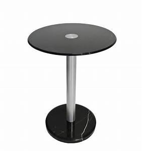 Gueridon En Verre : gu ridon design en marbre et verre noir kosilum ~ Teatrodelosmanantiales.com Idées de Décoration