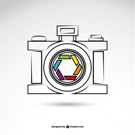 sketched photo camera vector