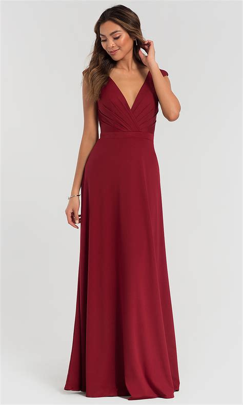 long ruched bodice kleinfeld bridesmaid dress