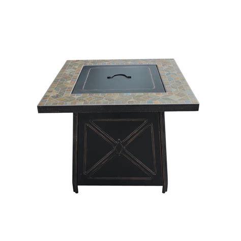 patio propane fire pit table hton bay g ftb51057b cross ridge gas fire pit table