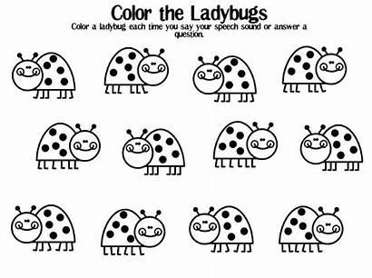 Spring Printable Speech Ladybug Homework Therapy Contest