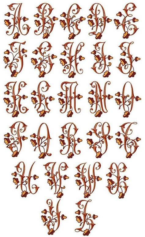 abc designs acorns alphabet embroidery designs  hoop  capitals letters ebay