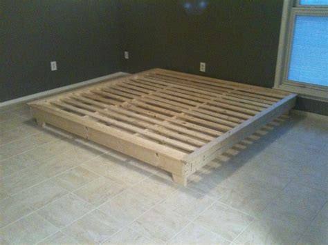 interior ideas cream wooden diy platform bed frame king
