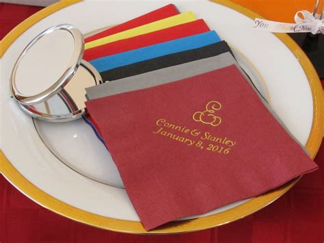 400 Personalized Luncheon Napkins Custom Printed Party