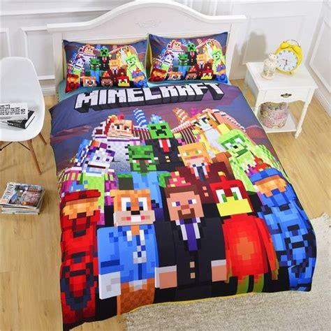 minecraft comforter set minecraft kinder bettw 228 sche bedding set g 252 nstig kinderbett