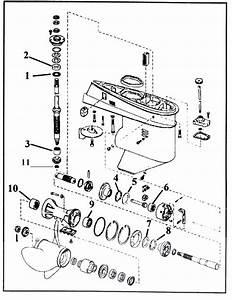 Omc 3 Cyl  Lower Gear Case