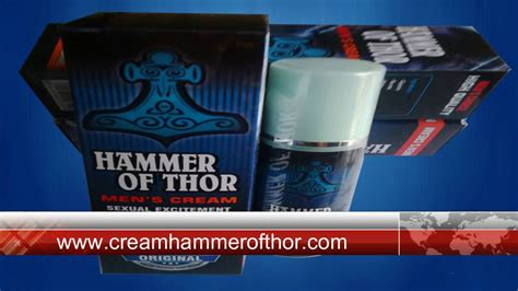 cream hammer of thor gel hammer of thor youtube