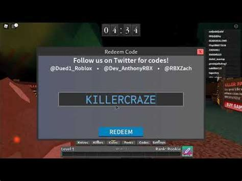 The goal of the survivors is to hide from the killer and escape while the killer is meant to kill as many players as possible in the given time frame. new codes in 🔪 Survive the Killer! - YouTube