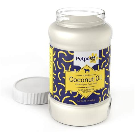 organic coconut oil  dogs petpost