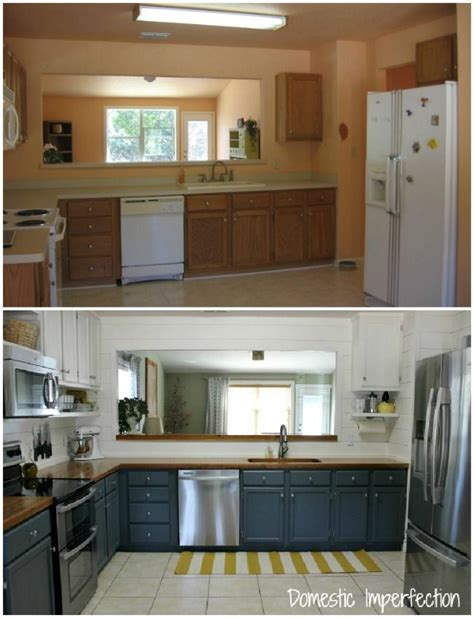 budget kitchen remodel 20 small kitchen renovations before and after diy
