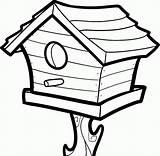 Coloring Birdhouse Bird Pages Popular sketch template