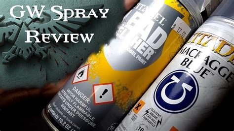 Is Games Workshop Spray Paint Worth It?  Review Youtube