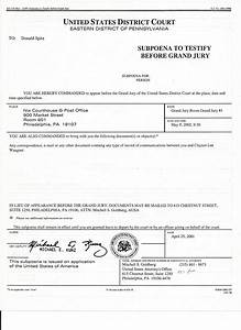 Donald Spitz Subpoena to testify before Grand Jury