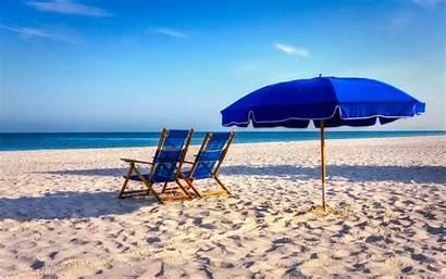 Summer Beach Desktop Beaches Nature Chairs Screensavers