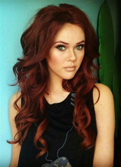 red hair color hairstyles haircuts