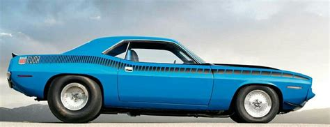 Plymouth Cuda... I Do Love Tall And Wide Back Tires