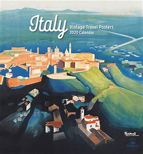 Two Month Calendar Italy Vintage Travel Posters Calendar 2020 At Calendar Club