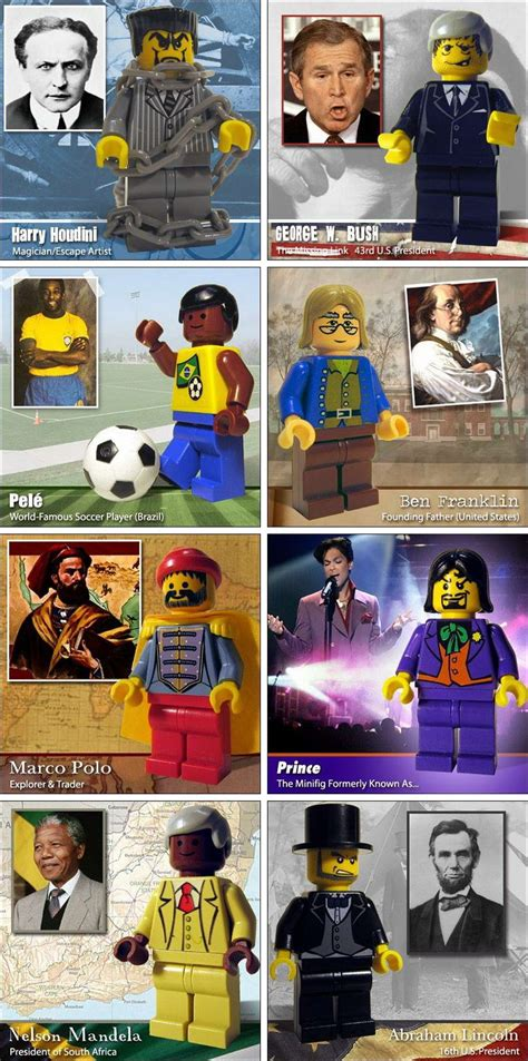 famous people  lego minifigure lego mini figures