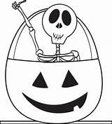 Skeleton Coloring Printable Pages Halloween Pumpkin Skeletons Sheets Easy Pumpkins sketch template