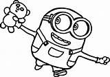 Coloring Funny Minion Printable sketch template