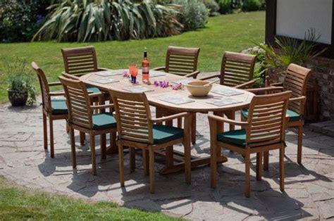 monte carlo oval teak garden furniture set humber imports