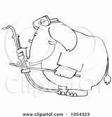 Welding Outline Elephant Clip Welder Vector Illustration Royalty Djart Coloring Pages Template Clipart Clipartof sketch template