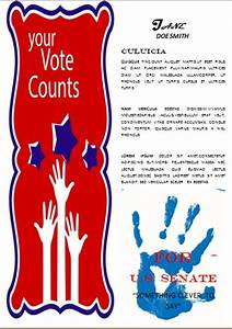 campaign with these elegant free political campaign flyer With voting flyer templates free