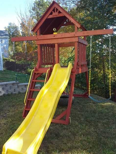swing sets for small spaces custom made space saver swing set swing sets 8419