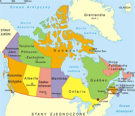 map  canada showing cities