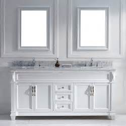 virtu usa victoria 72 inch white double sink vanity set