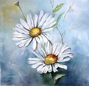 Peindre Au Passé Simple : tableau peinture marguerite fleurs p querette t rayon ~ Melissatoandfro.com Idées de Décoration