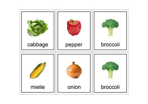 printable flashcards vegetables    print